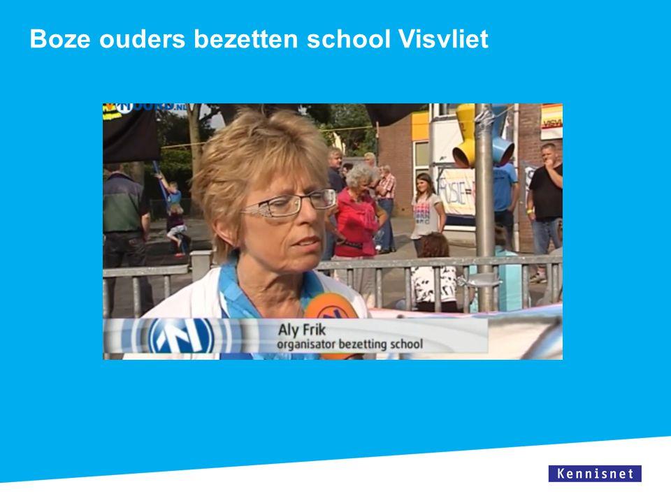 Boze ouders bezetten school Visvliet