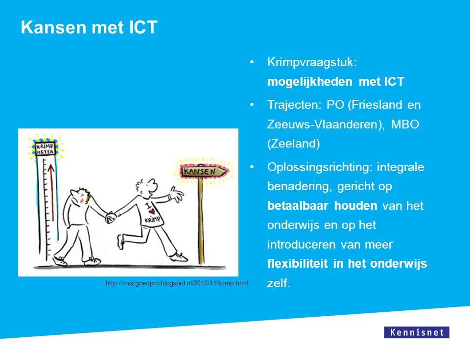 Kansen met ICT Krimpvraagstuk: mogelijkheden met ICT