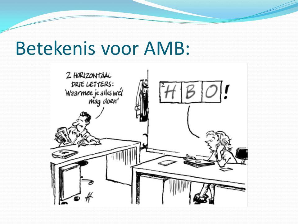 Betekenis voor AMB: