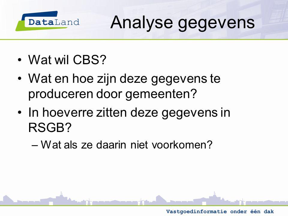 Analyse gegevens Wat wil CBS