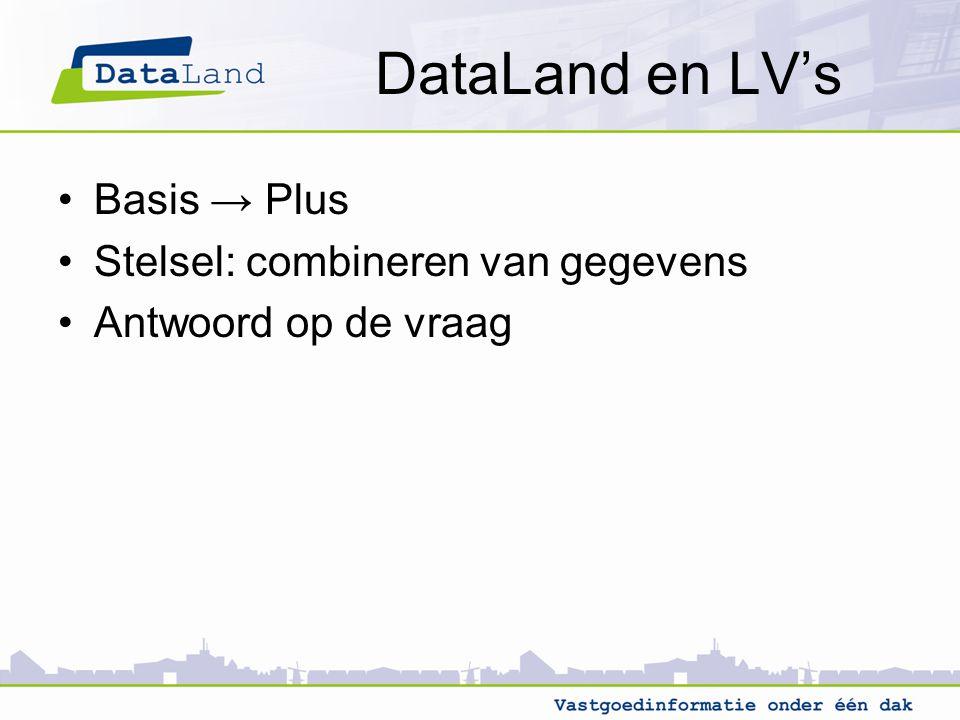 DataLand en LV's Basis → Plus Stelsel: combineren van gegevens