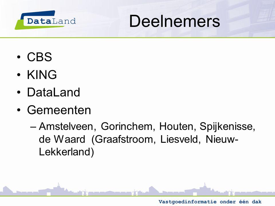 Deelnemers CBS KING DataLand Gemeenten
