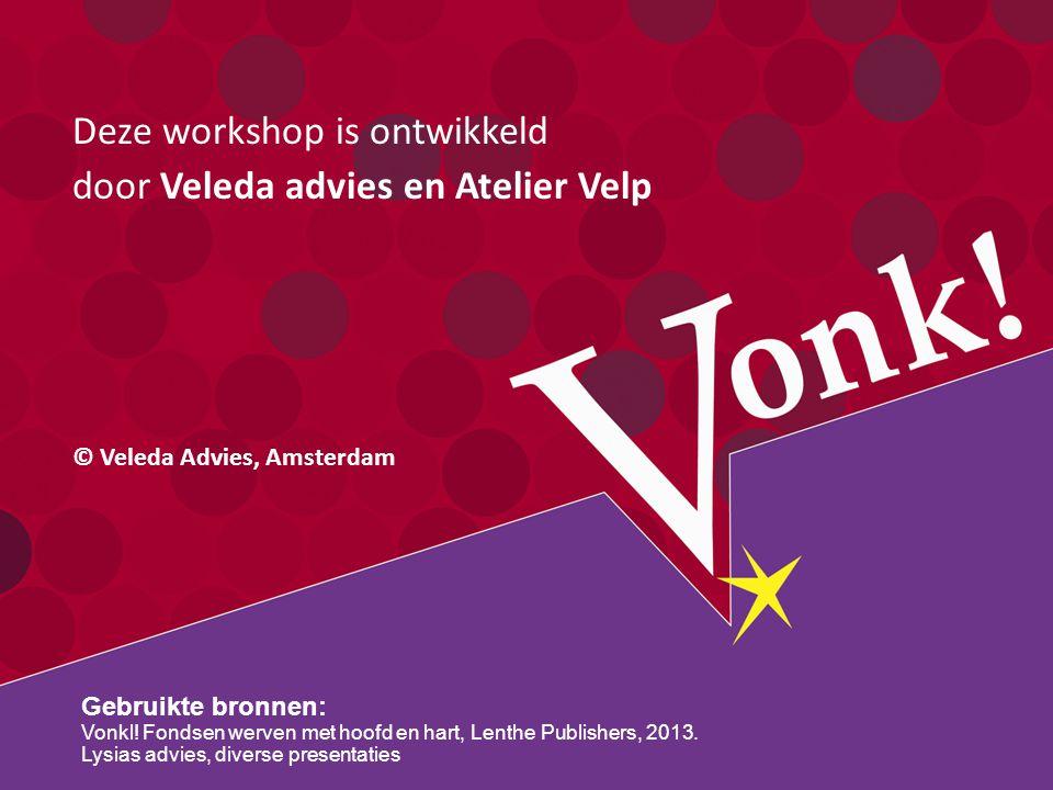 Deze workshop is ontwikkeld door Veleda advies en Atelier Velp