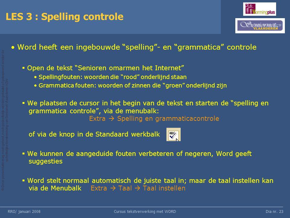LES 3 : Spelling controle