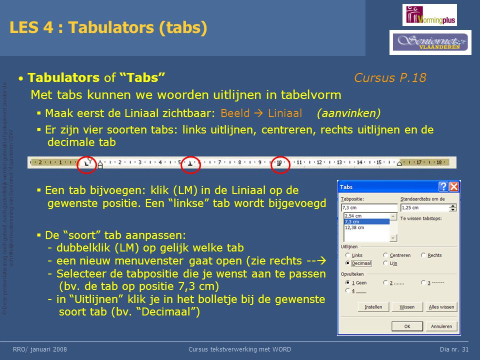 LES 4 : Tabulators (tabs)