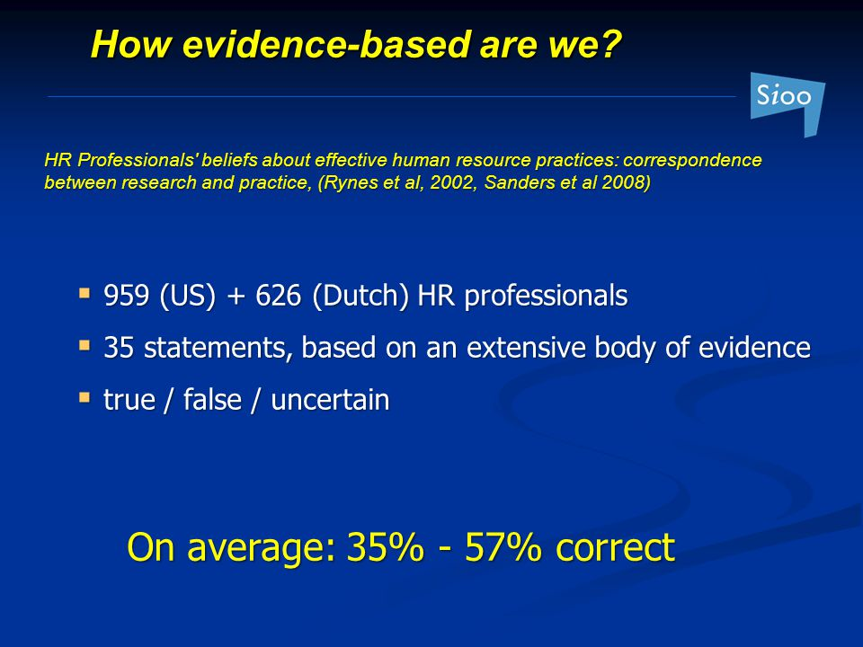 How evidence-based are we