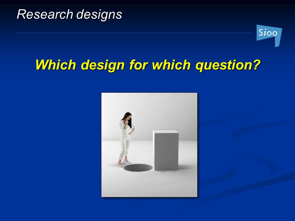 Which design for which question