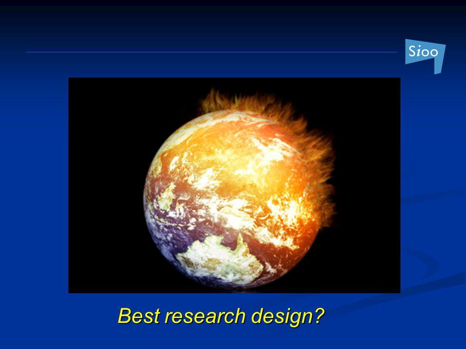 Best research design