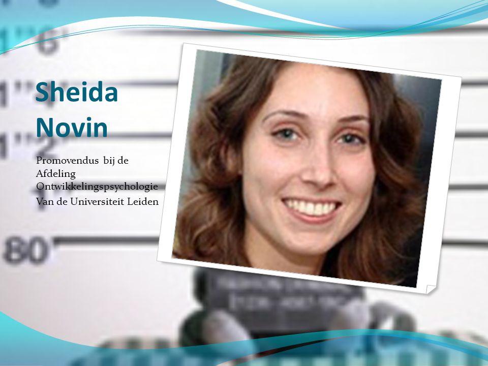 Sheida Novin Promovendus bij de Afdeling Ontwikkelingspsychologie
