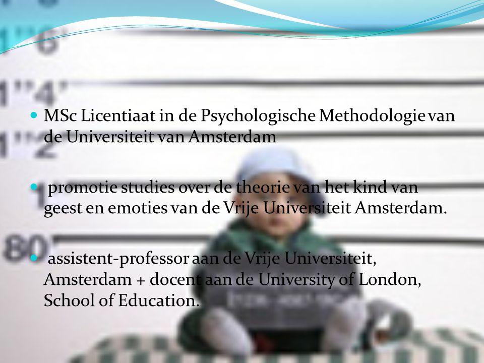 MSc Licentiaat in de Psychologische Methodologie van de Universiteit van Amsterdam