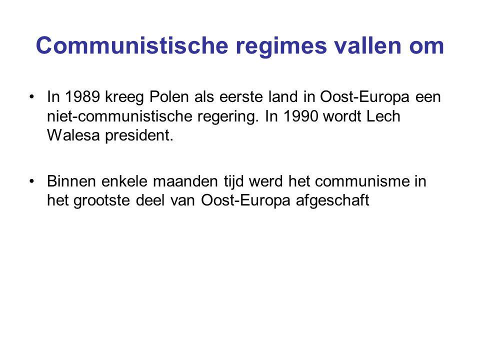 Communistische regimes vallen om