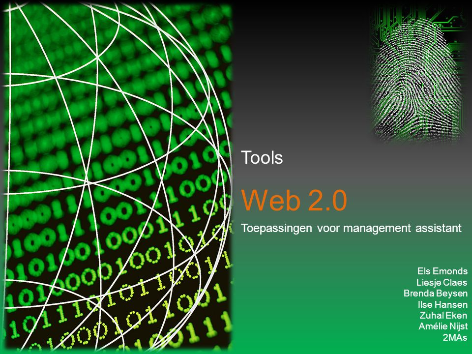 Web 2.0 Toepassingen voor management assistant