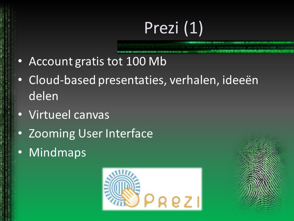 Prezi (1) Account gratis tot 100 Mb