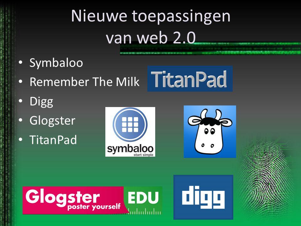 Nieuwe toepassingen van web 2.0