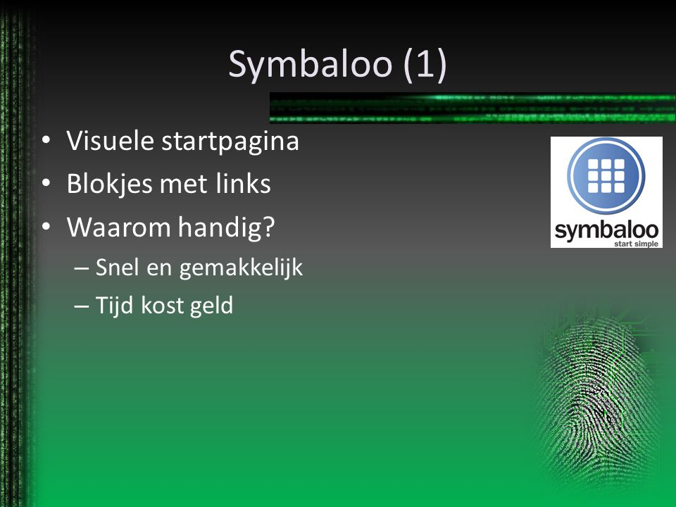 Symbaloo (1) Visuele startpagina Blokjes met links Waarom handig