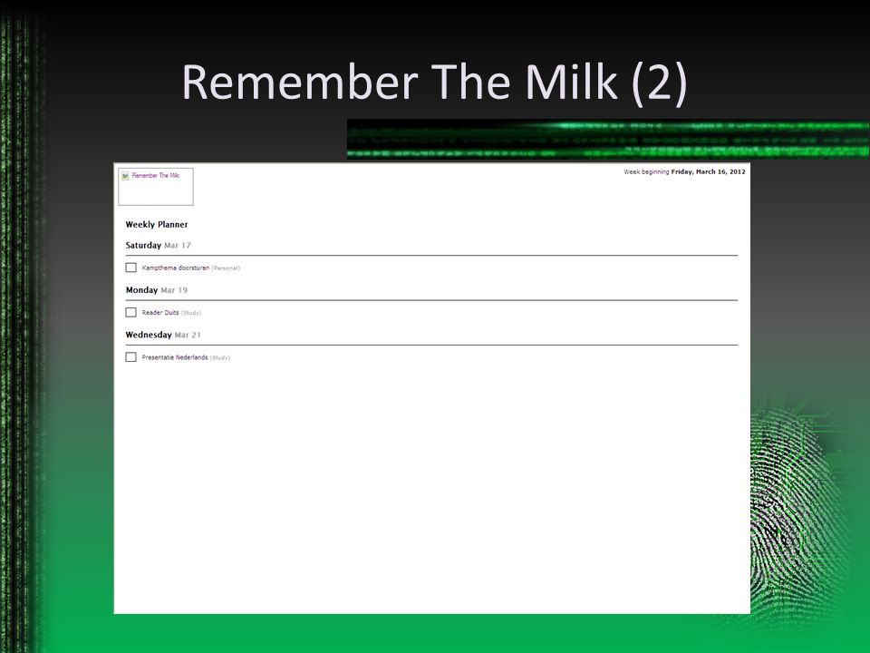 Remember The Milk (2)