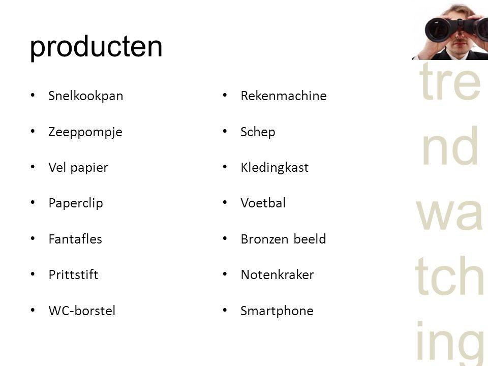 producten Snelkookpan Zeeppompje Vel papier Paperclip Fantafles