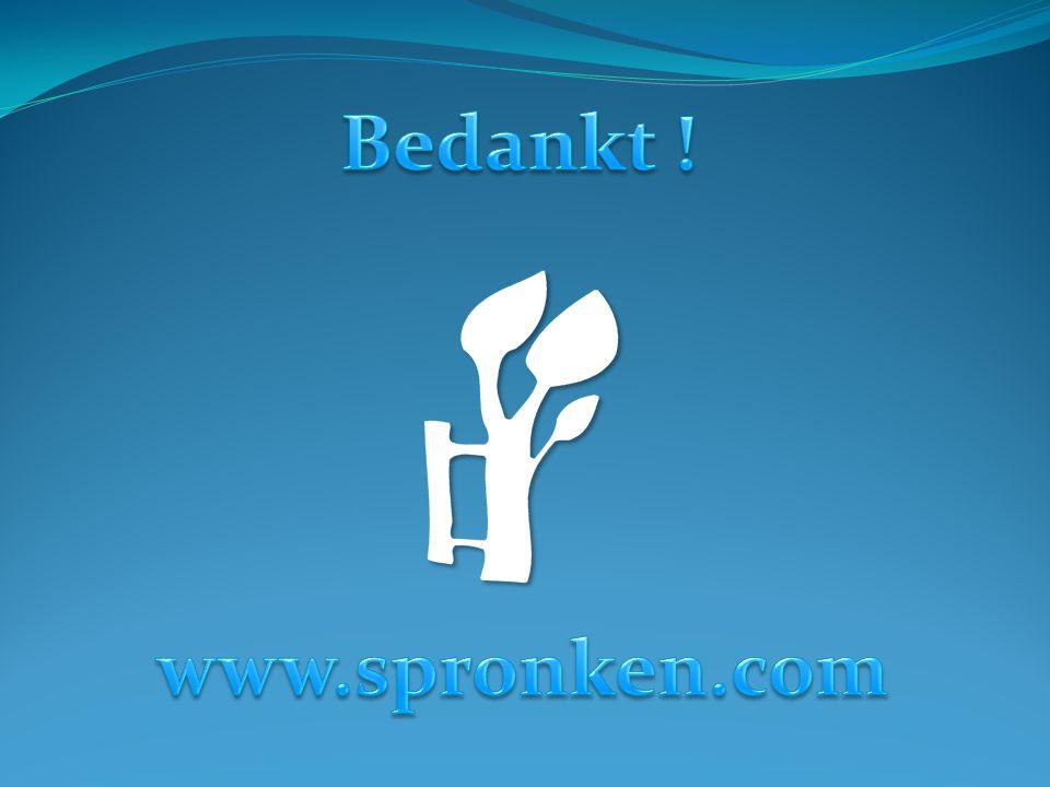 Bedankt ! www.spronken.com