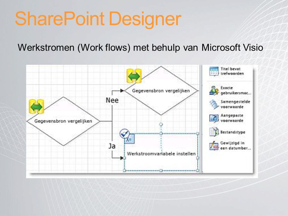 SharePoint Designer Werkstromen (Work flows) met behulp van Microsoft Visio.
