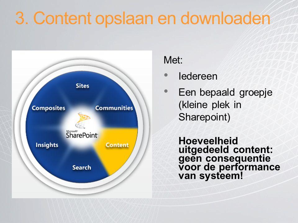 3. Content opslaan en downloaden