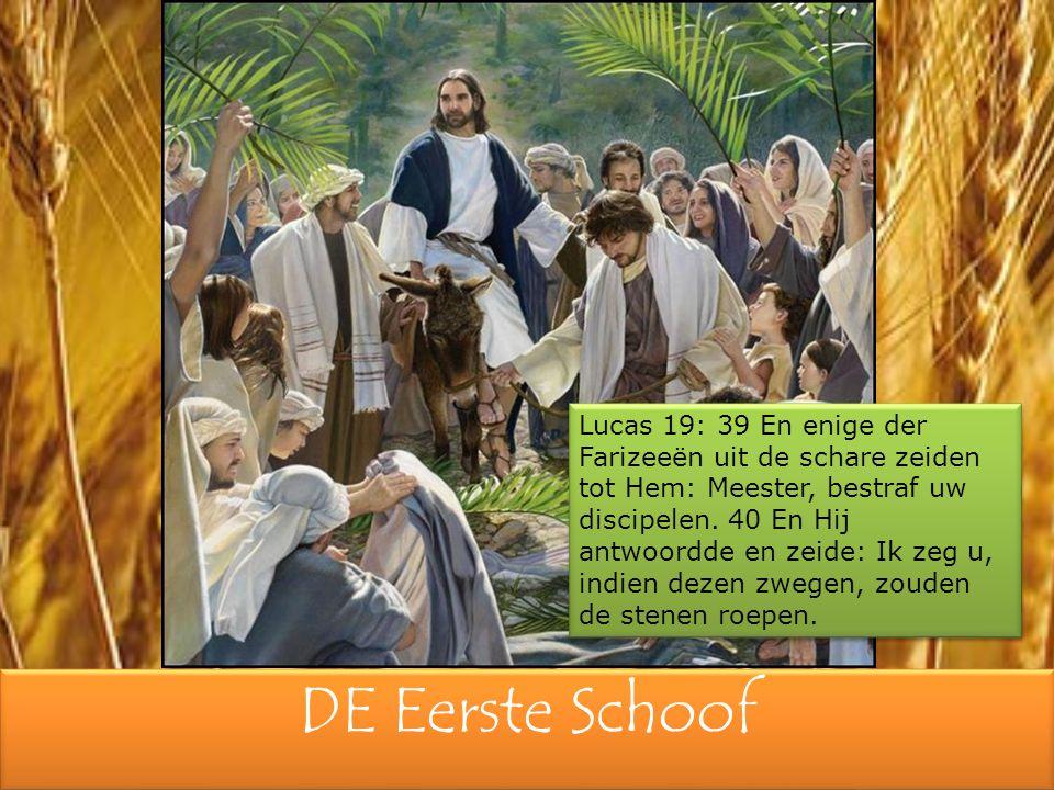 Lucas 19: 39 En enige der Farizeeën uit de schare zeiden tot Hem: Meester, bestraf uw discipelen. 40 En Hij antwoordde en zeide: Ik zeg u, indien dezen zwegen, zouden de stenen roepen.