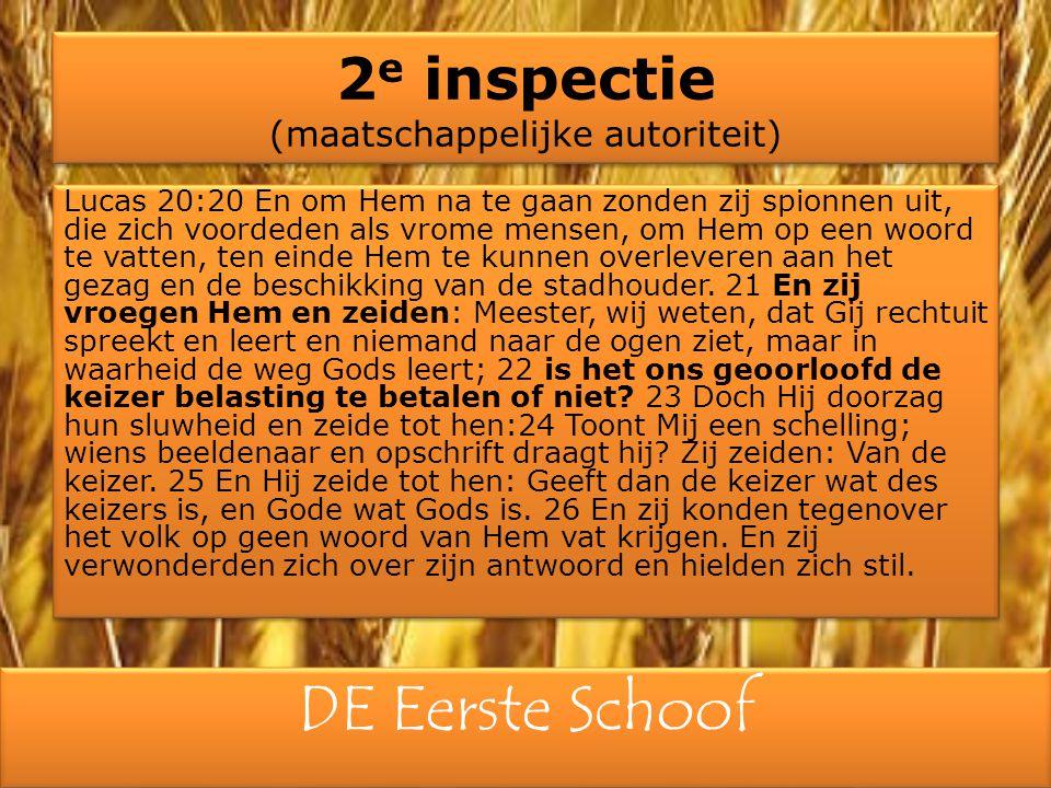 2e inspectie (maatschappelijke autoriteit)