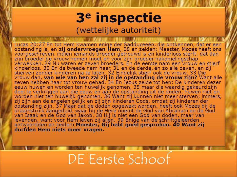 3e inspectie (wettelijke autoriteit)