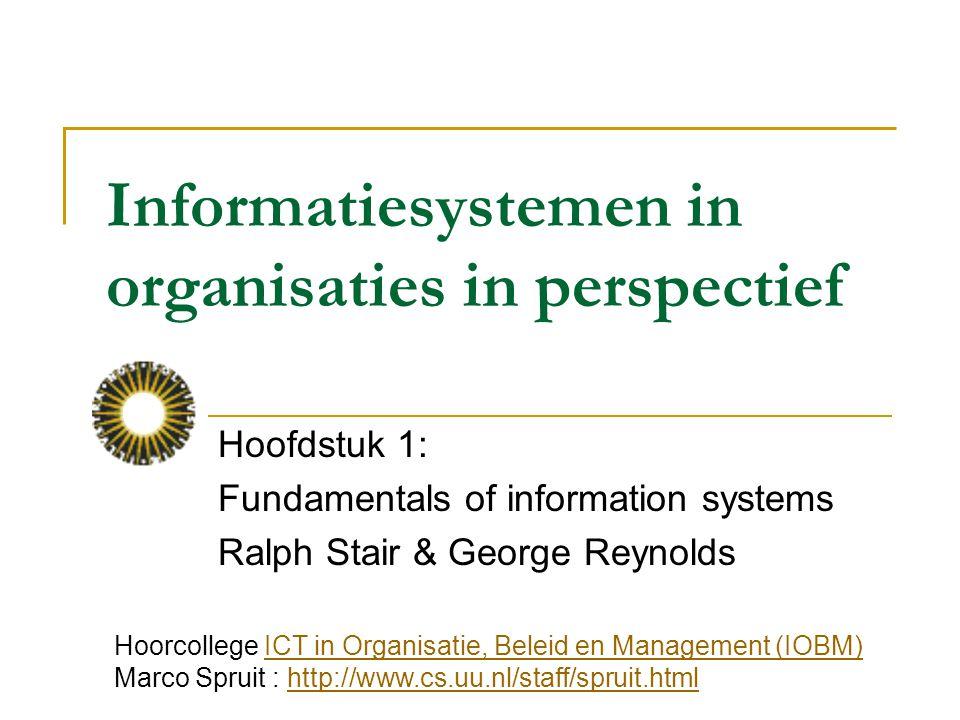 Informatiesystemen in organisaties in perspectief