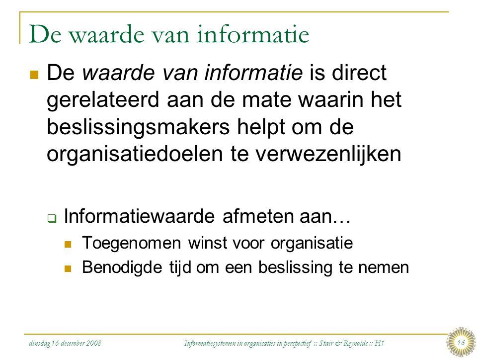 De waarde van informatie
