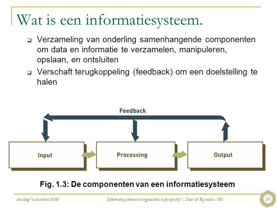 Wat is een informatiesysteem.