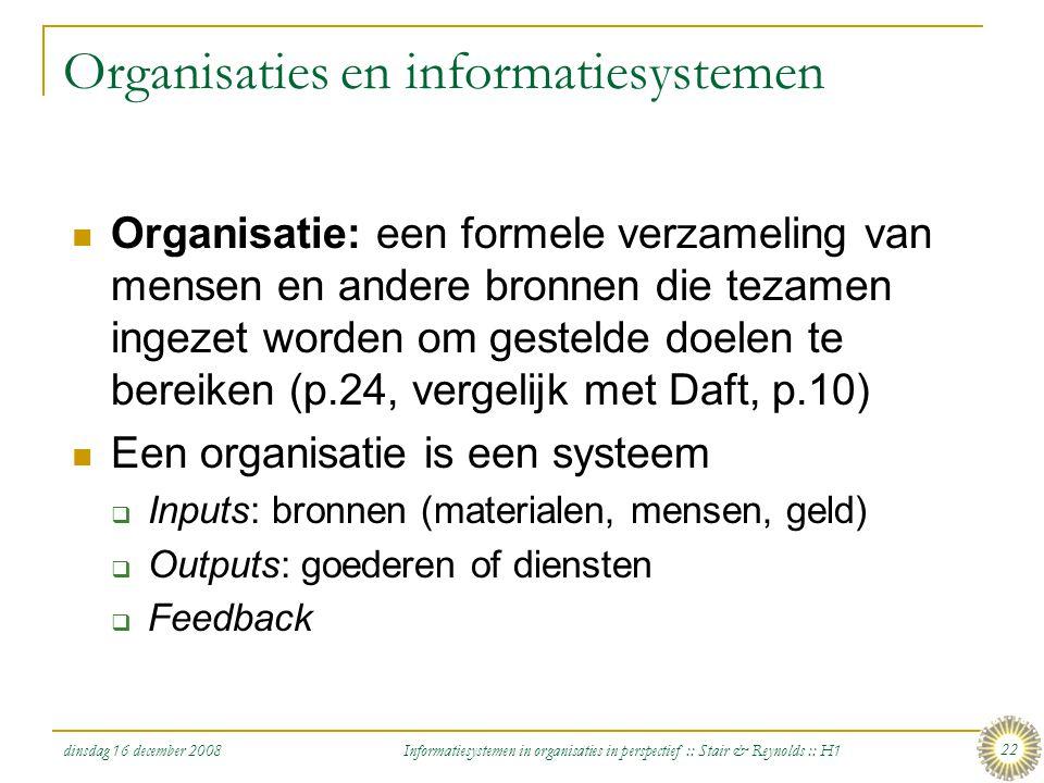 Organisaties en informatiesystemen