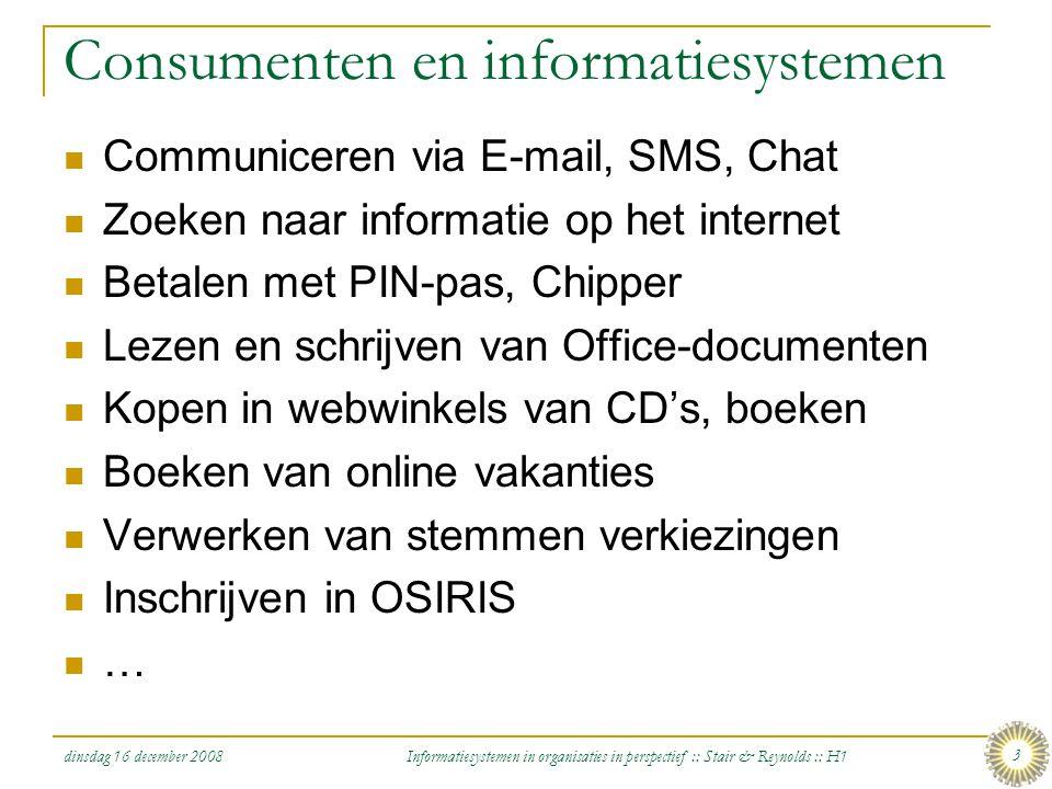 Consumenten en informatiesystemen