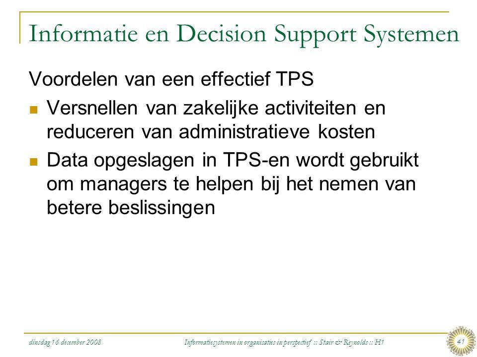 Informatie en Decision Support Systemen