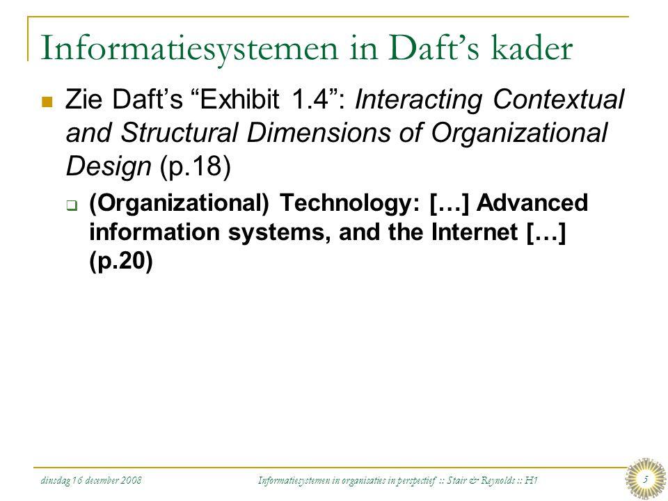 Informatiesystemen in Daft's kader