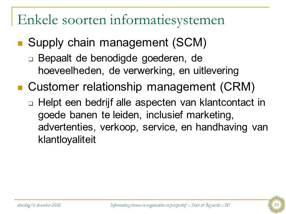 Enkele soorten informatiesystemen