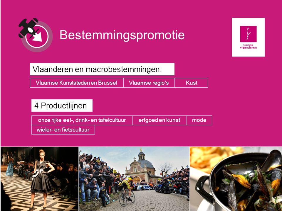 Bestemmingspromotie Vlaanderen en macrobestemmingen: 4 Productlijnen