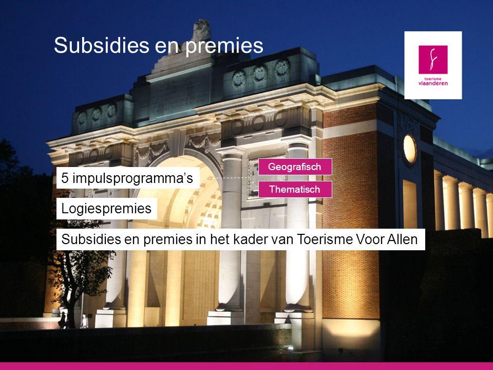Subsidies en premies 5 impulsprogramma's Logiespremies