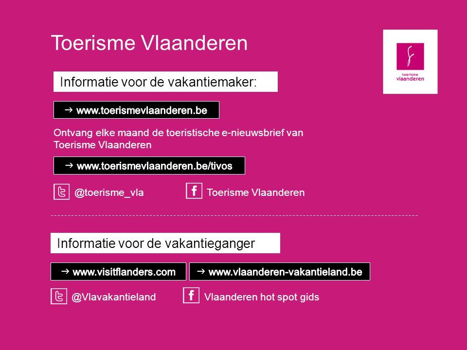 Toerisme Vlaanderen Informatie voor de vakantiemaker: