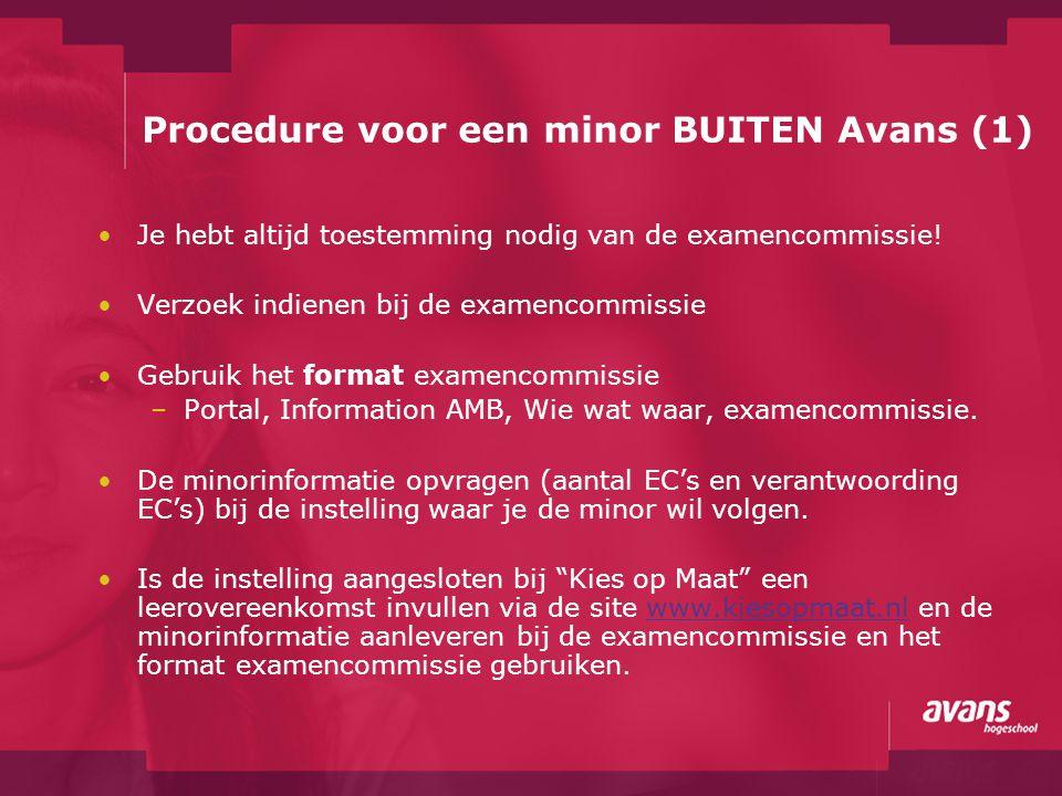 Procedure voor een minor BUITEN Avans (1)