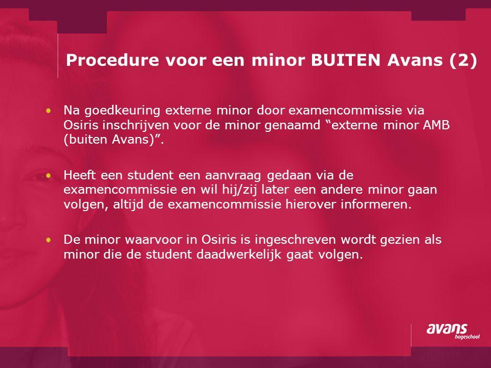Procedure voor een minor BUITEN Avans (2)