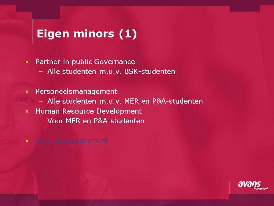 Eigen minors (1) Partner in public Governance