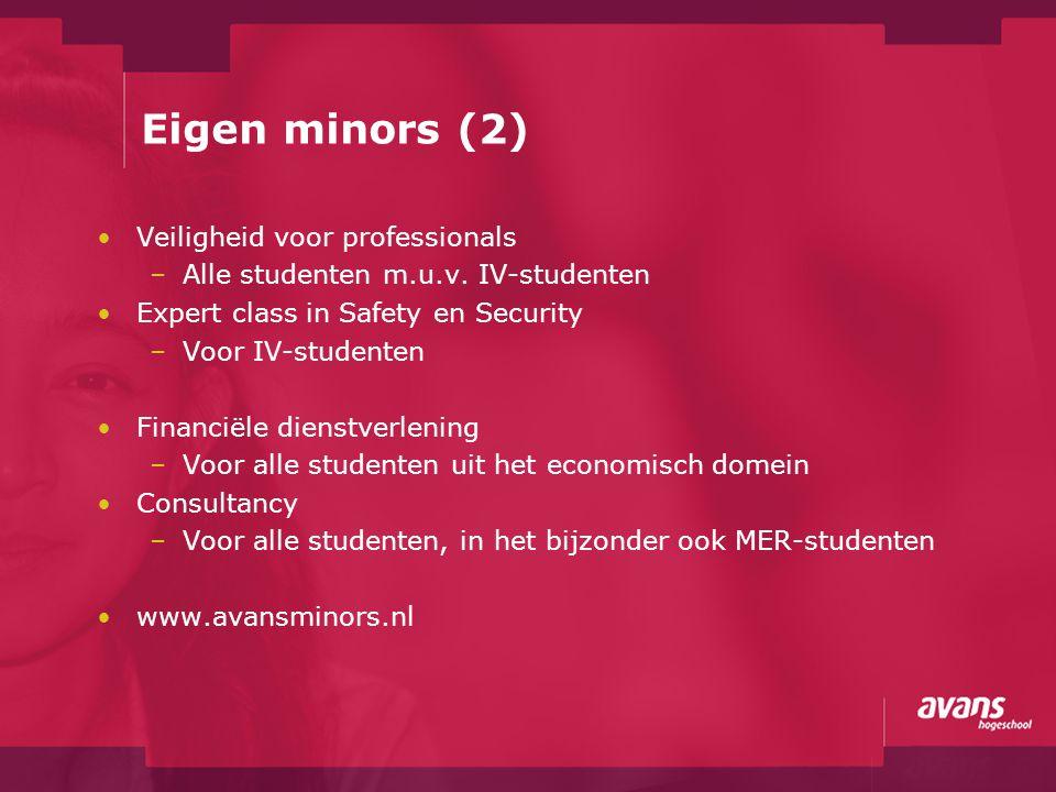 Eigen minors (2) Veiligheid voor professionals