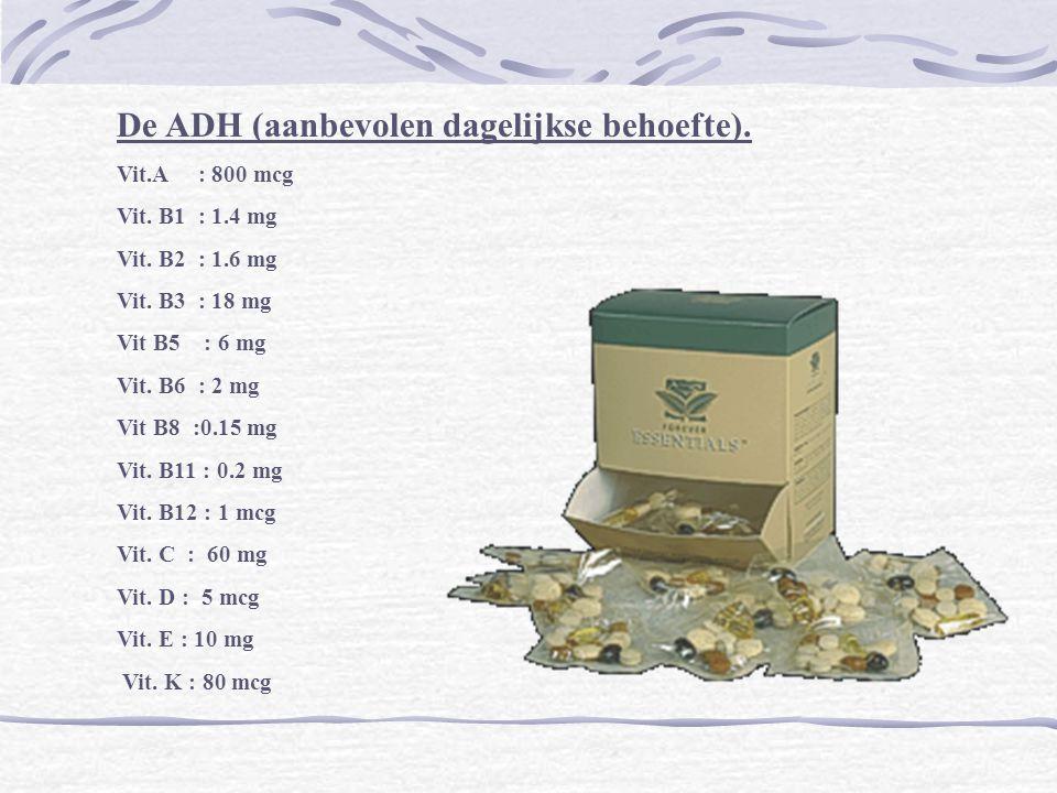 De ADH (aanbevolen dagelijkse behoefte).