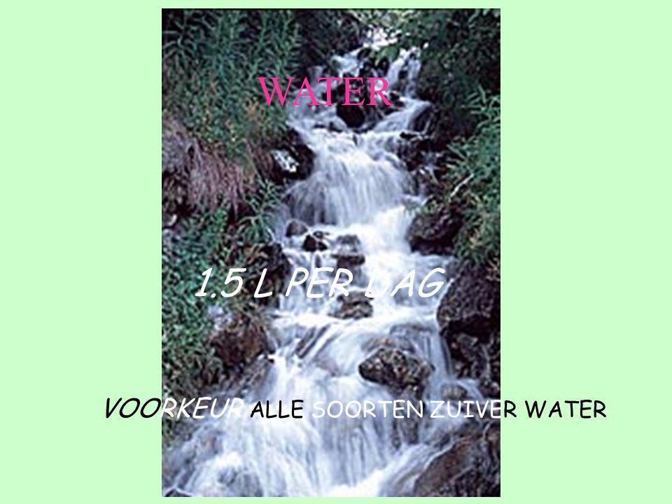 VOORKEUR ALLE SOORTEN ZUIVER WATER