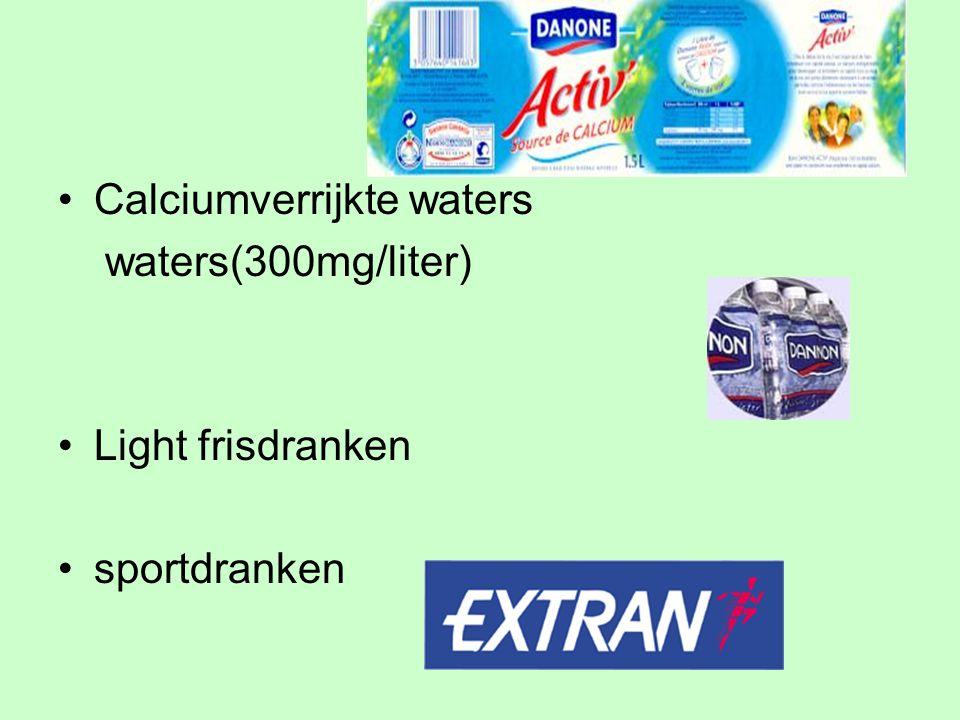 Calciumverrijkte waters