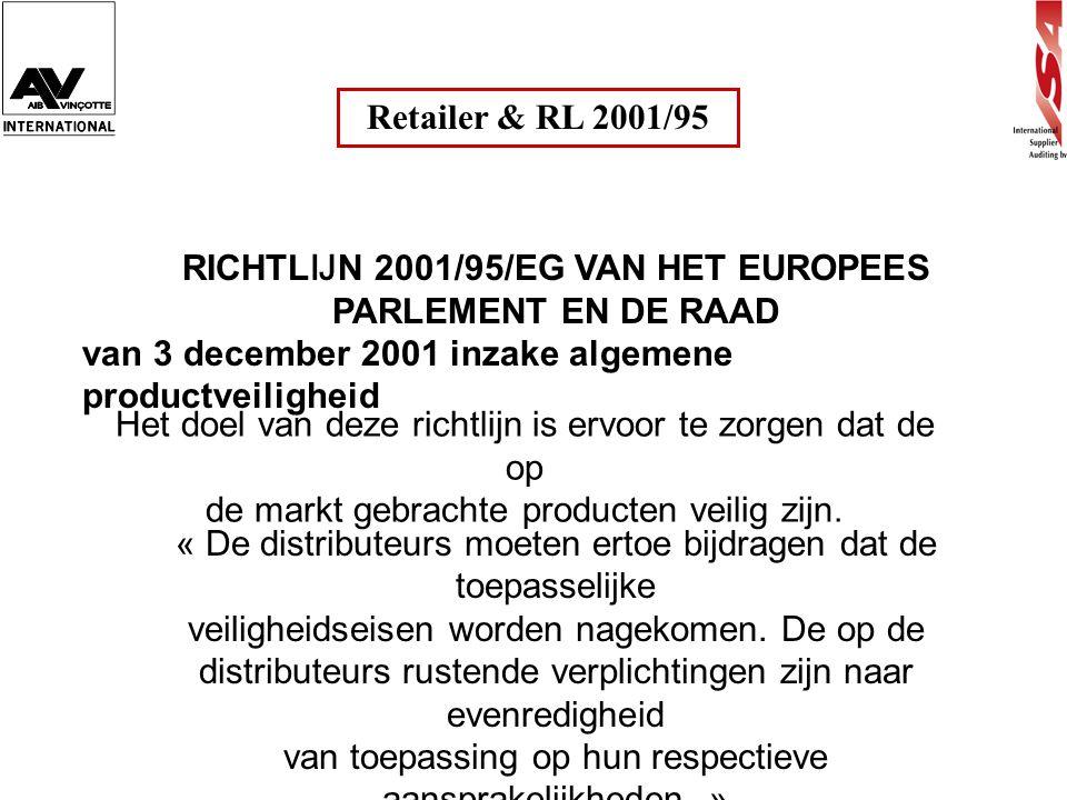 RICHTLIJN 2001/95/EG VAN HET EUROPEES PARLEMENT EN DE RAAD