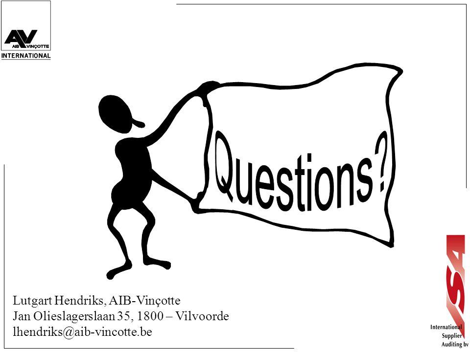 Questions Lutgart Hendriks, AIB-Vinçotte