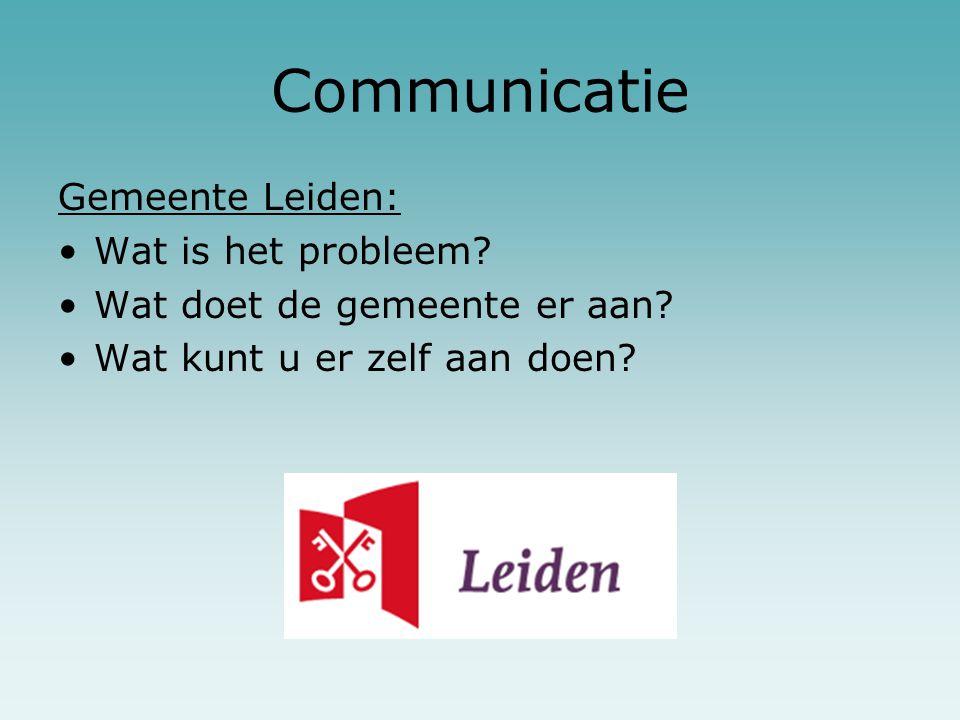 Communicatie Gemeente Leiden: Wat is het probleem