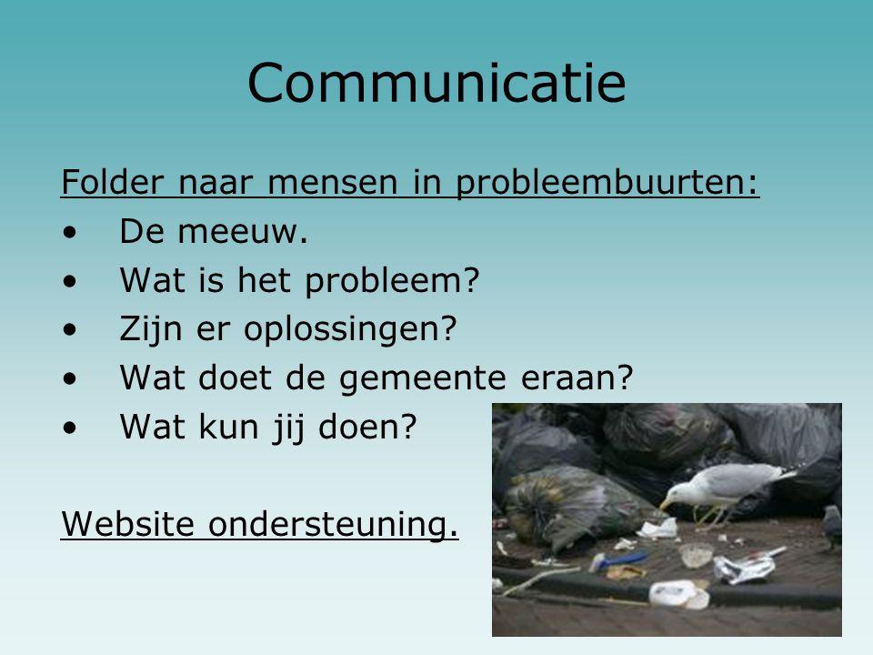 Communicatie Folder naar mensen in probleembuurten: De meeuw.