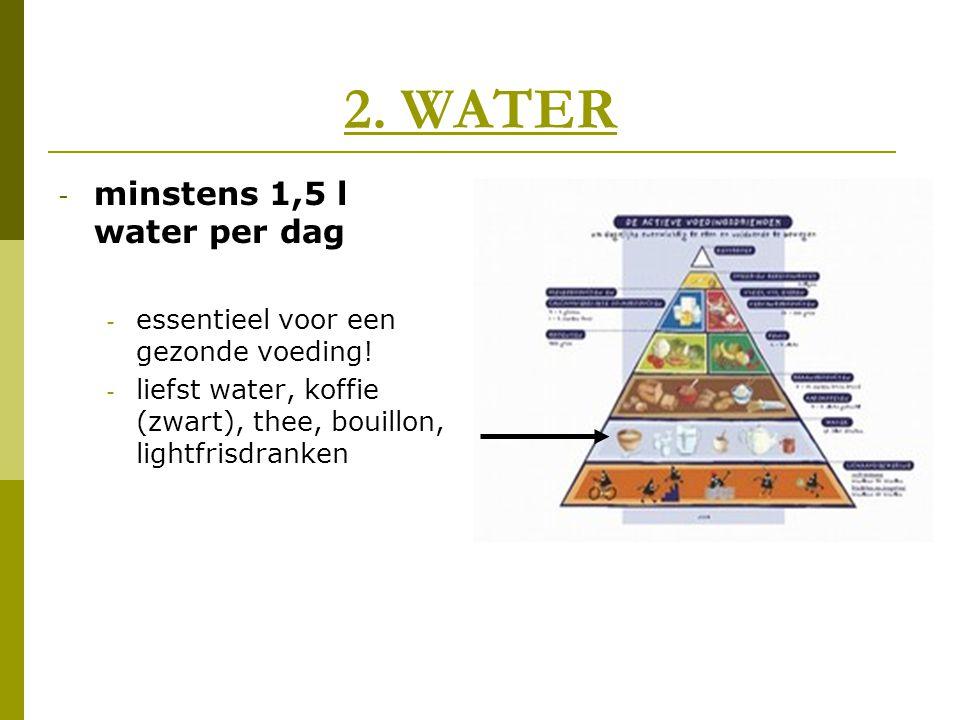 2. WATER minstens 1,5 l water per dag